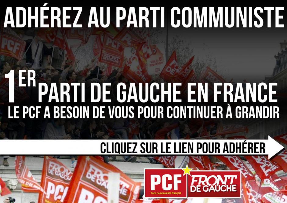 J'adhère au Parti Communiste Français